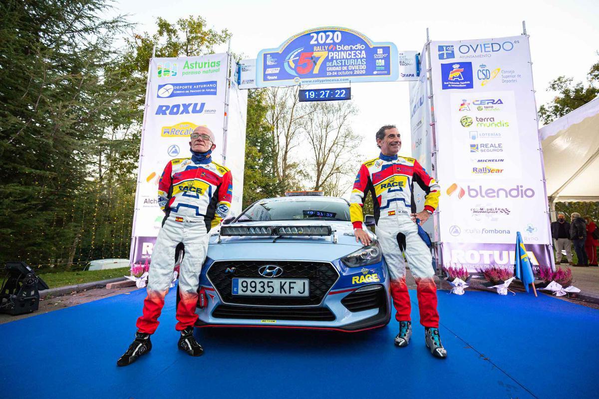 Miguel Fuster, piloto del coche 0 en el Rallye Blendio Princesa de Asturias
