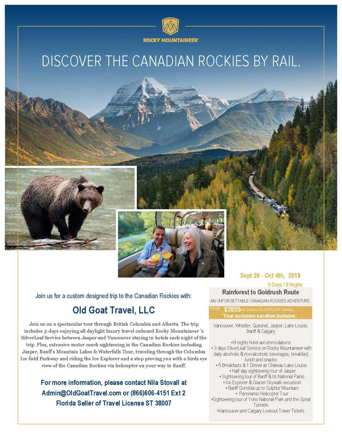 Discover the Canadian Rockies with the Old Goat!