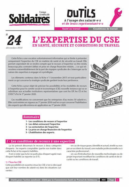 L'expertise du CSE en santé, sécurité et conditions de travail