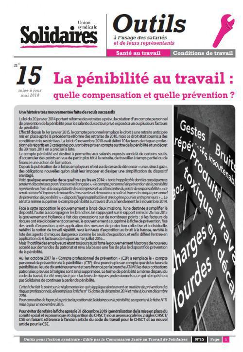 La pénibilité au travail : quelle compensation et quelle prévention ?