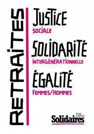 Retraites, justice sociale, solidarité intergénérationnelle, égalité femmes/hommes