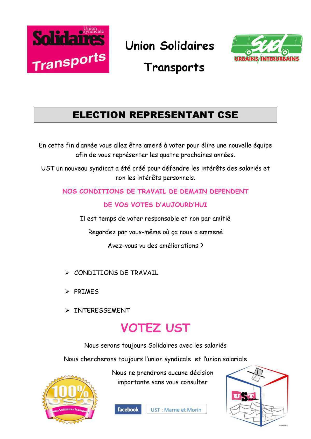 ELECTION REPRESENTANT CSE MARNE ET MORIN