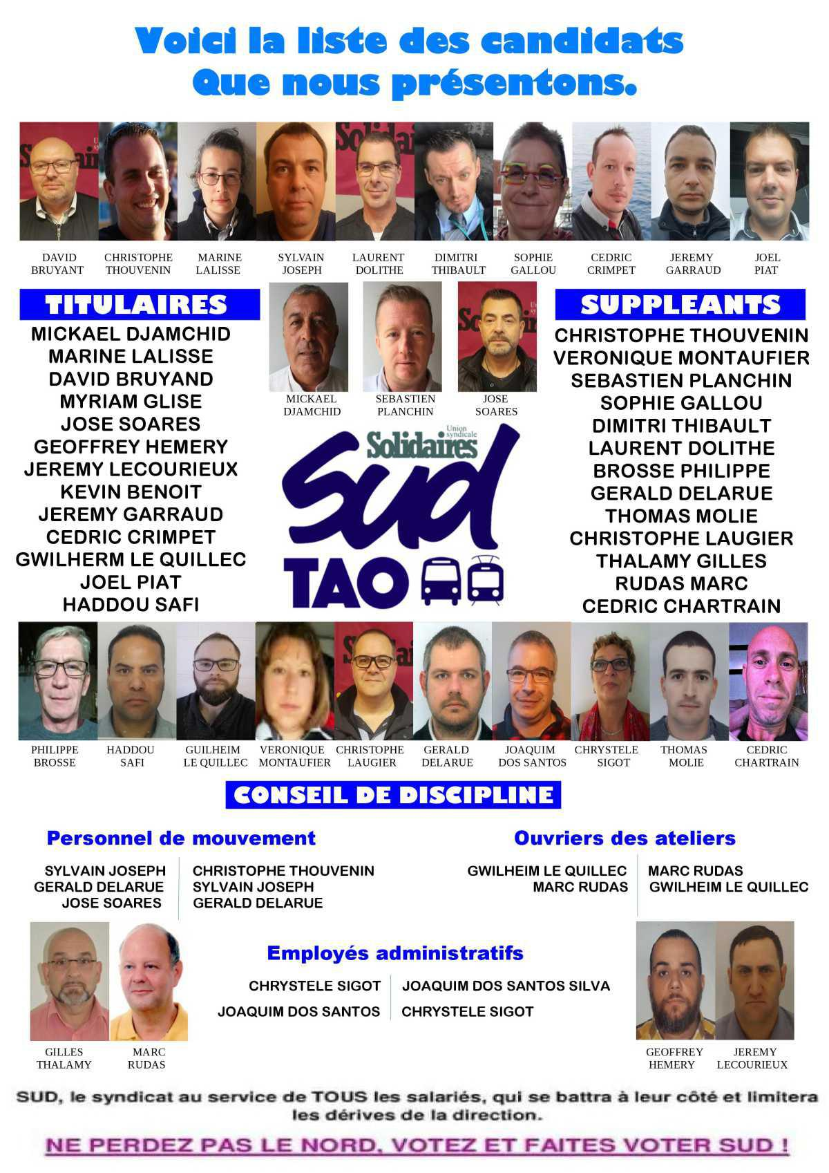 SECTION SYNDICALE SUD TAO ELECTIONS CSE 2019