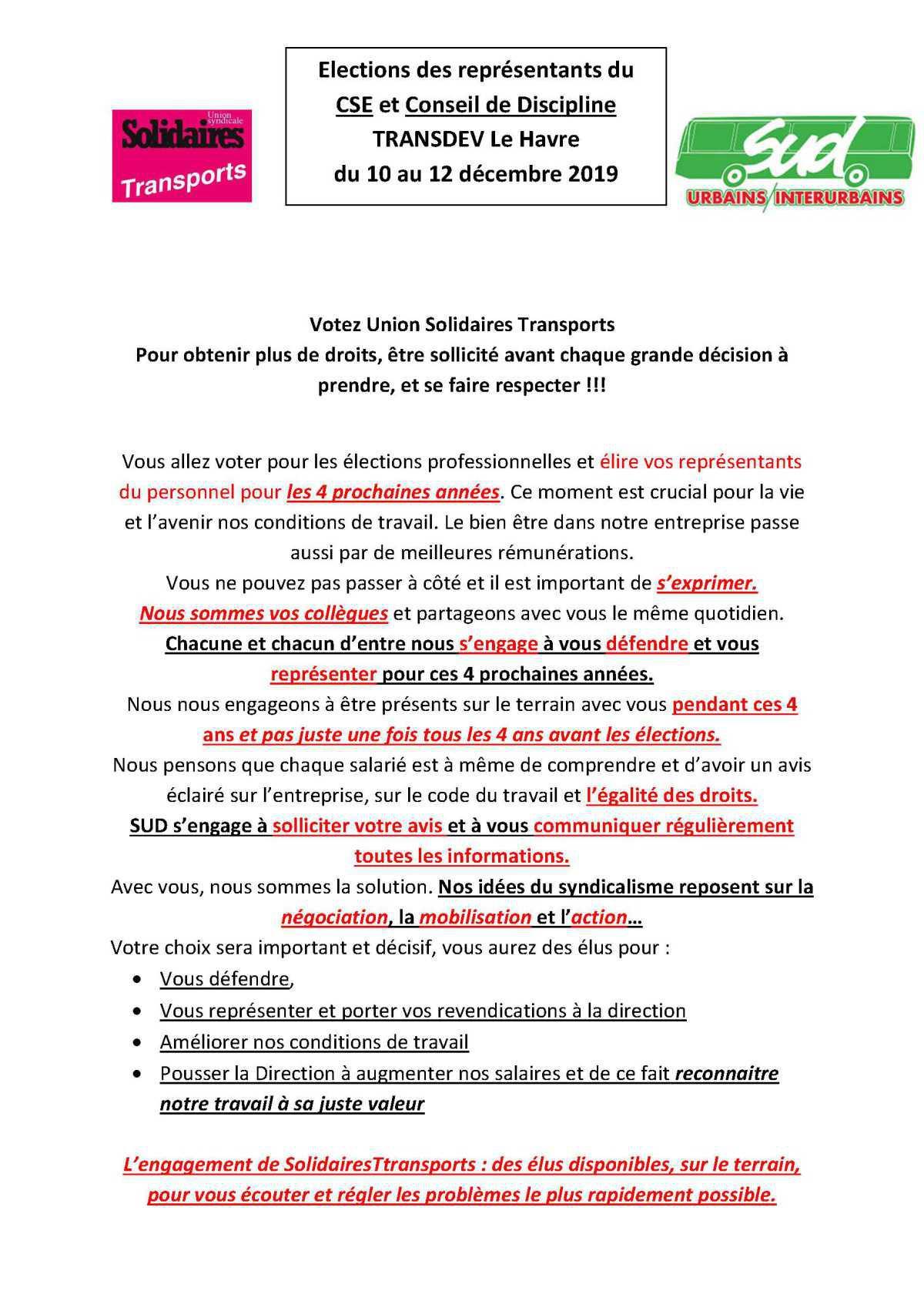 ELECTIONS CSE CTPO LE HAVRE