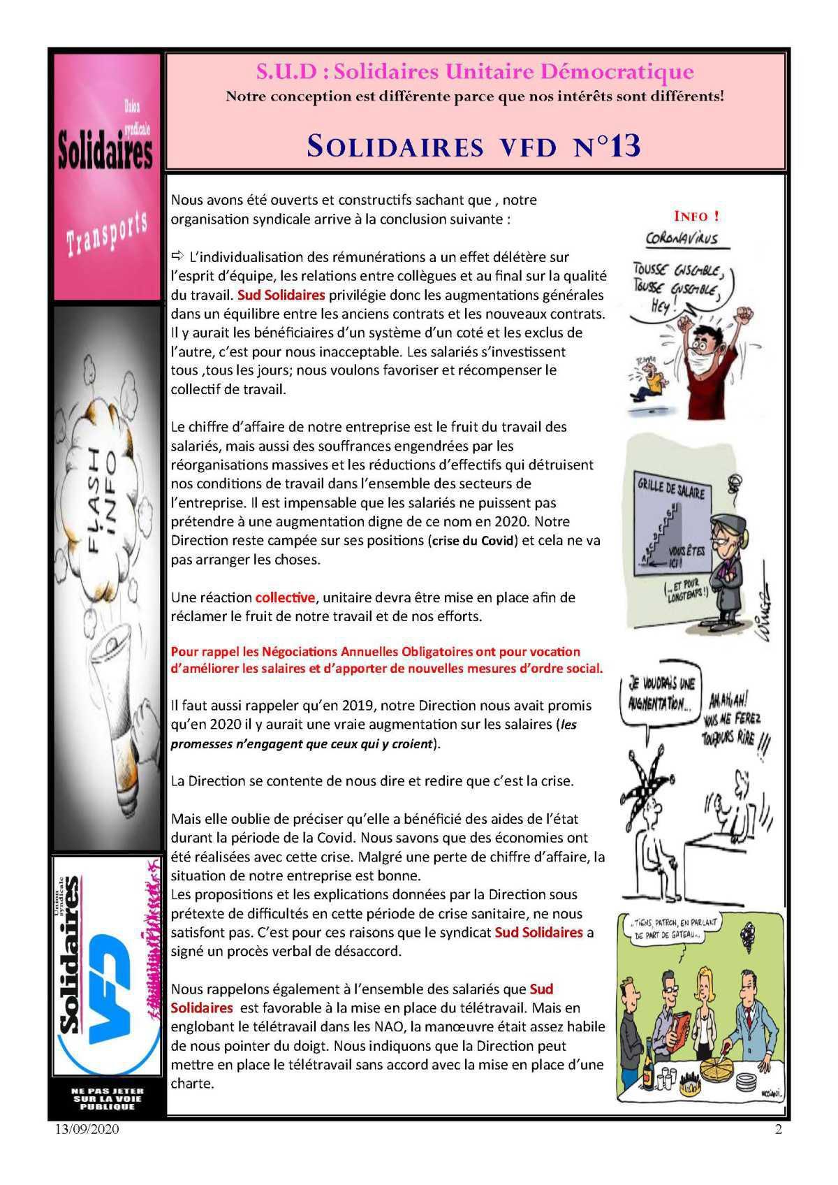 Bulletin Info SUD VFD n°13