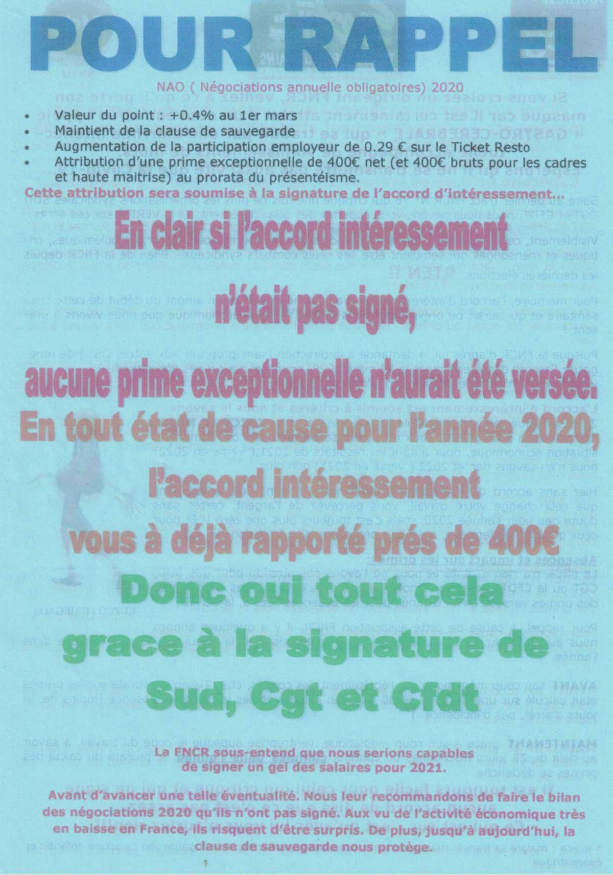 Tract SUD TISSEO intersyndicale
