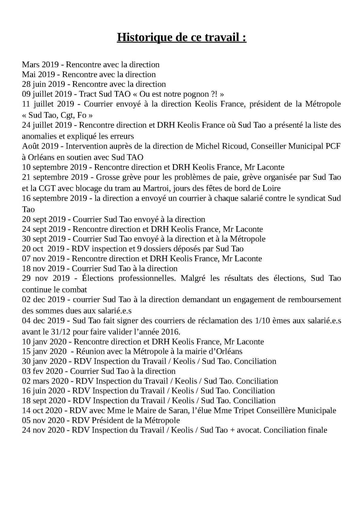 SUD TAO tract de régularisations démenti CFDT