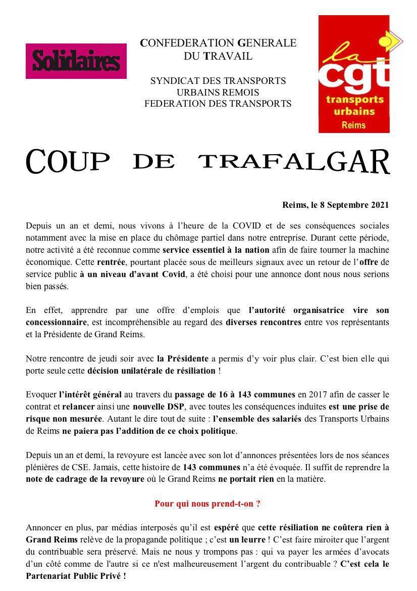 Tract SUD REMOIS : COUP DE TRAFALGAR