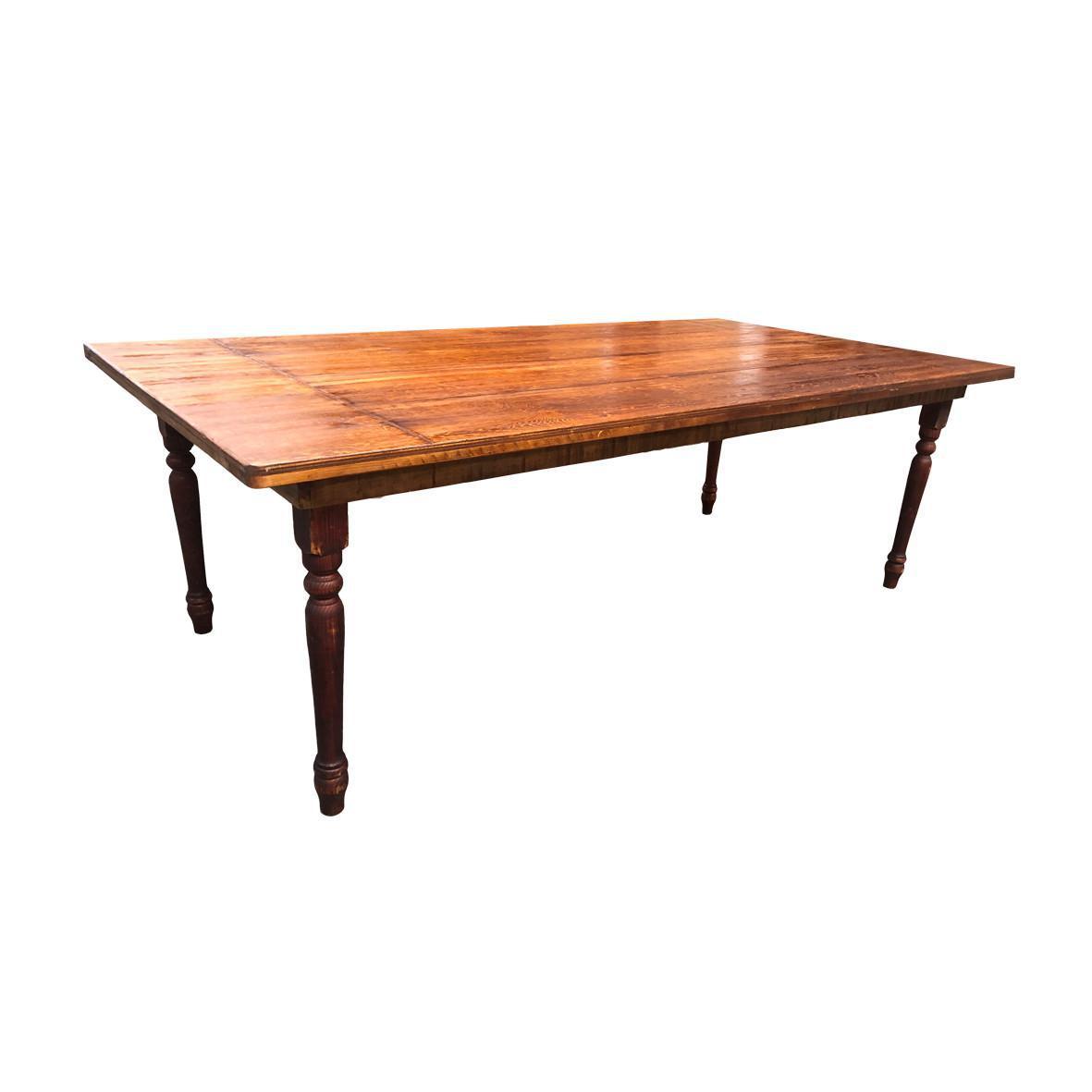 Mesa lime wash madera nogal pata torneada