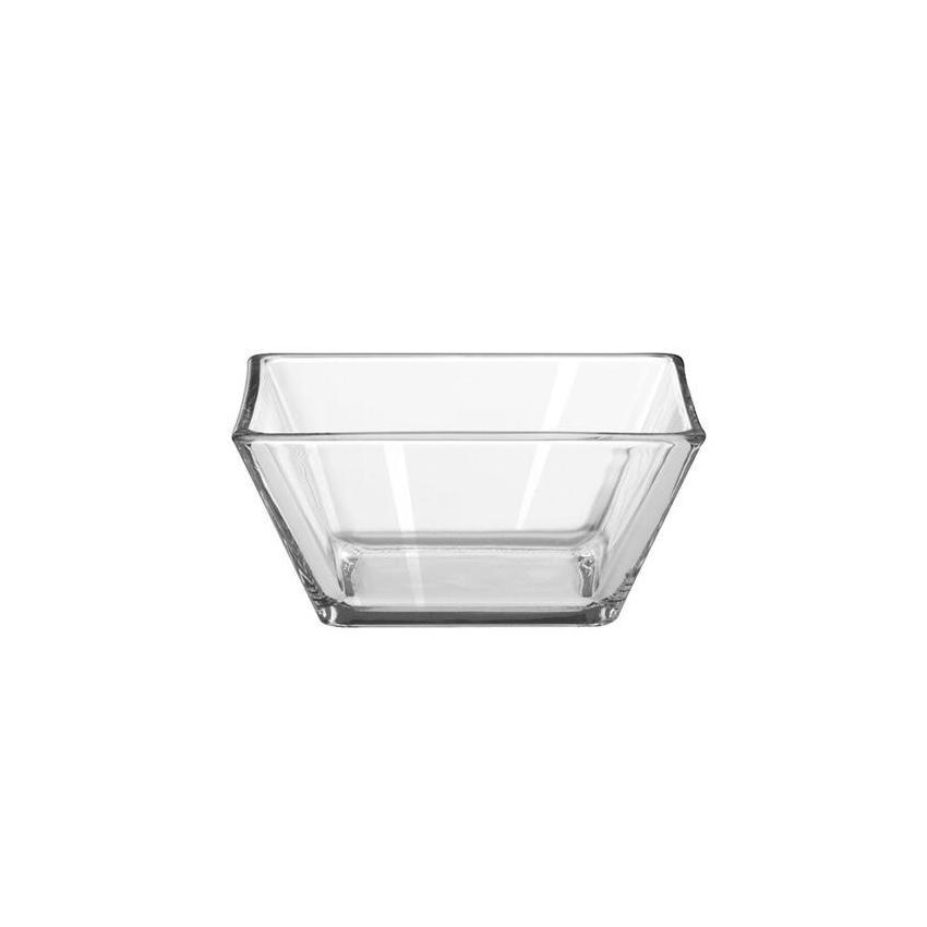 Plato bowl cuadrado transparente