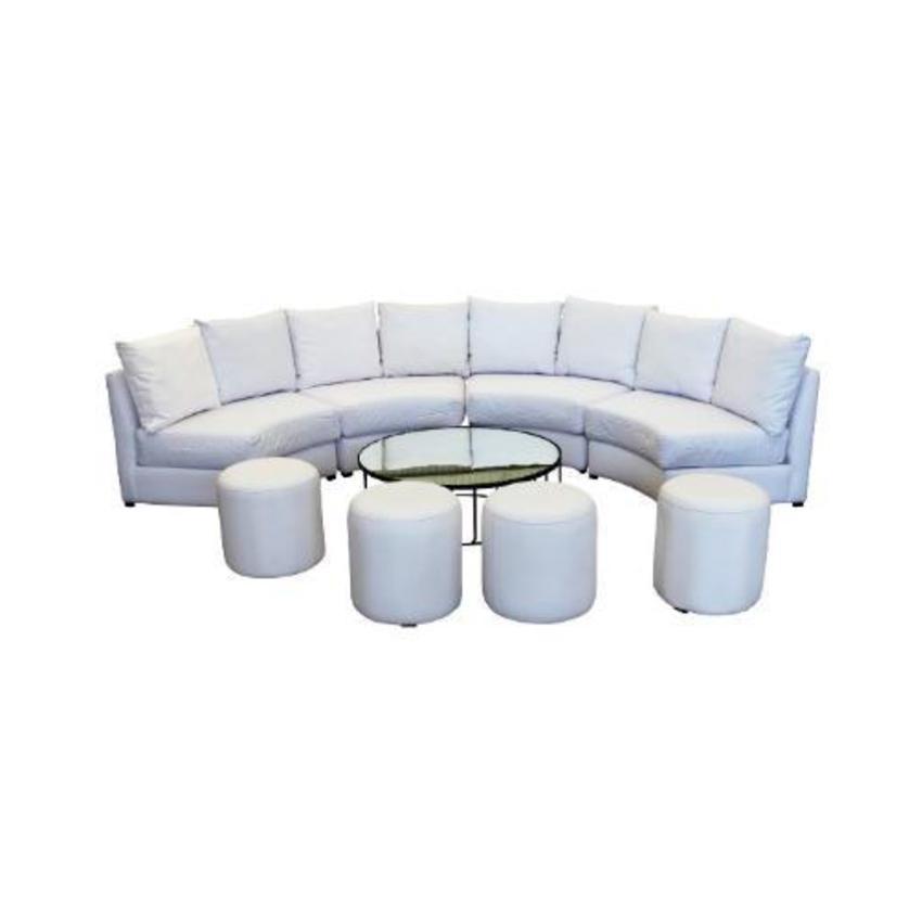 Sala cube circular blanca