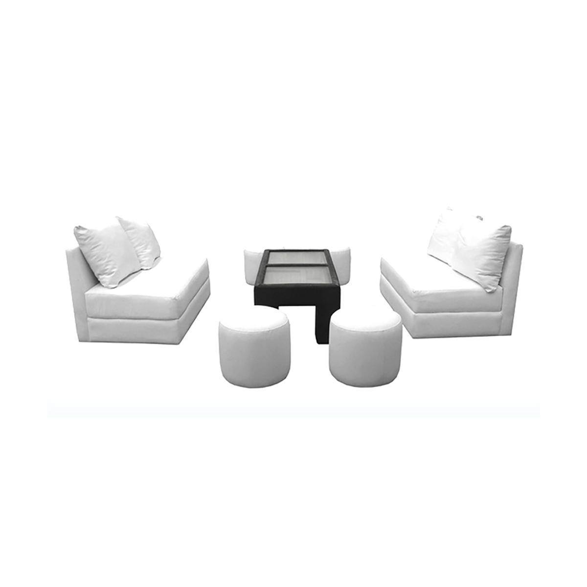 Sala cube 2 love seat blanca