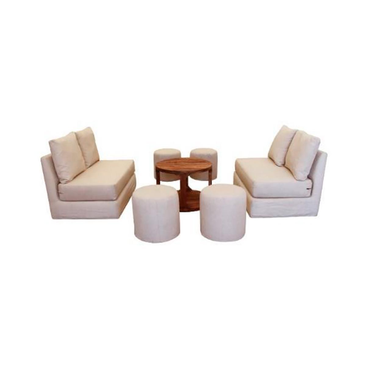 Sala cube 2 love seat beige