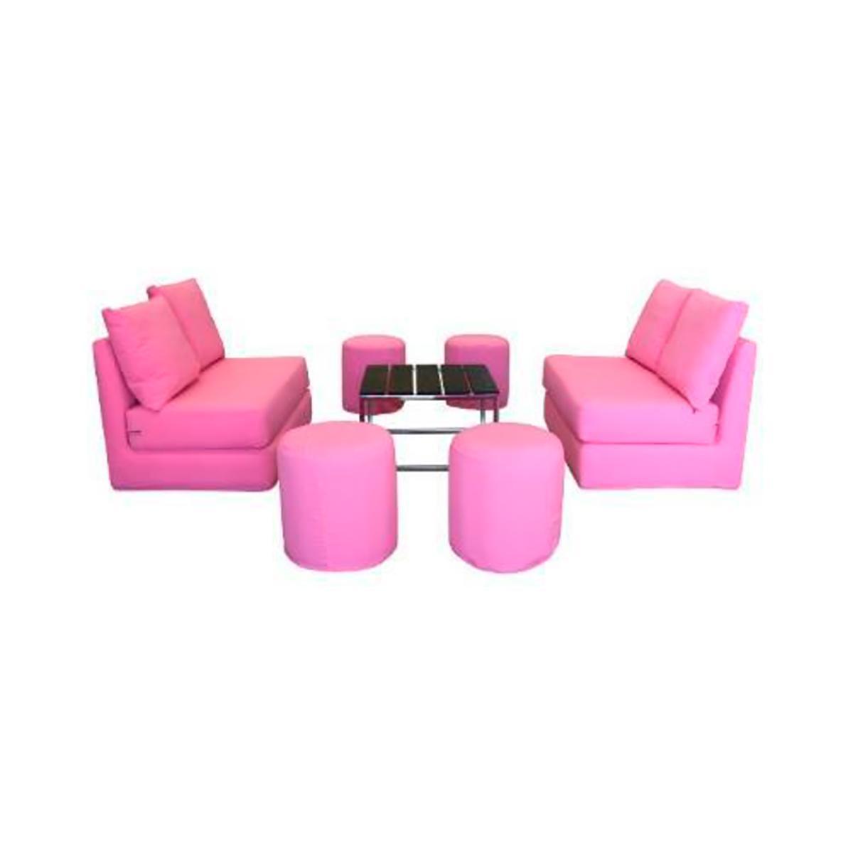 Sala cube 2 love seat rosa