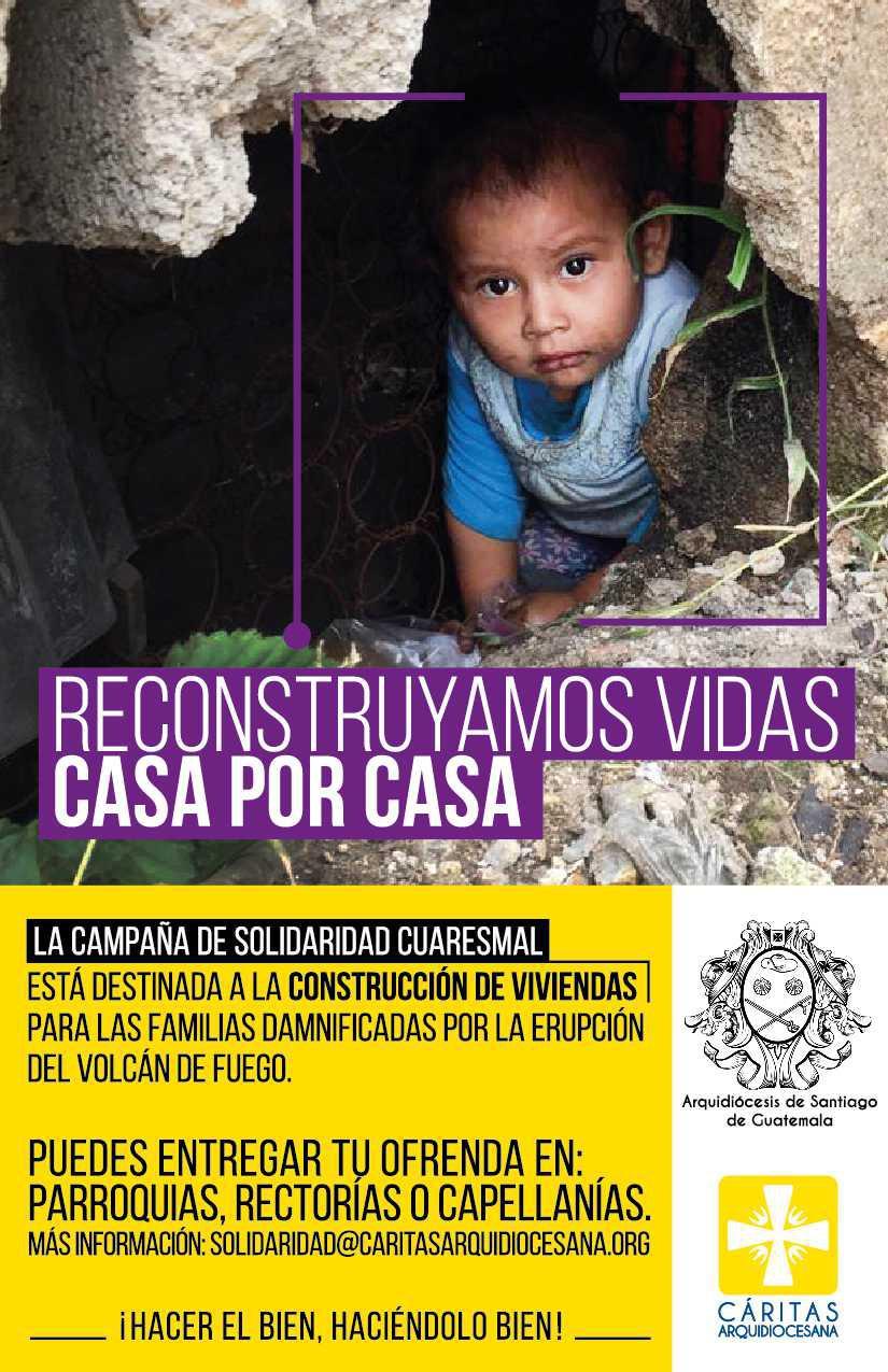 """Campaña de Solidaridad """"Reconstruyamos vidas casa por casa"""""""