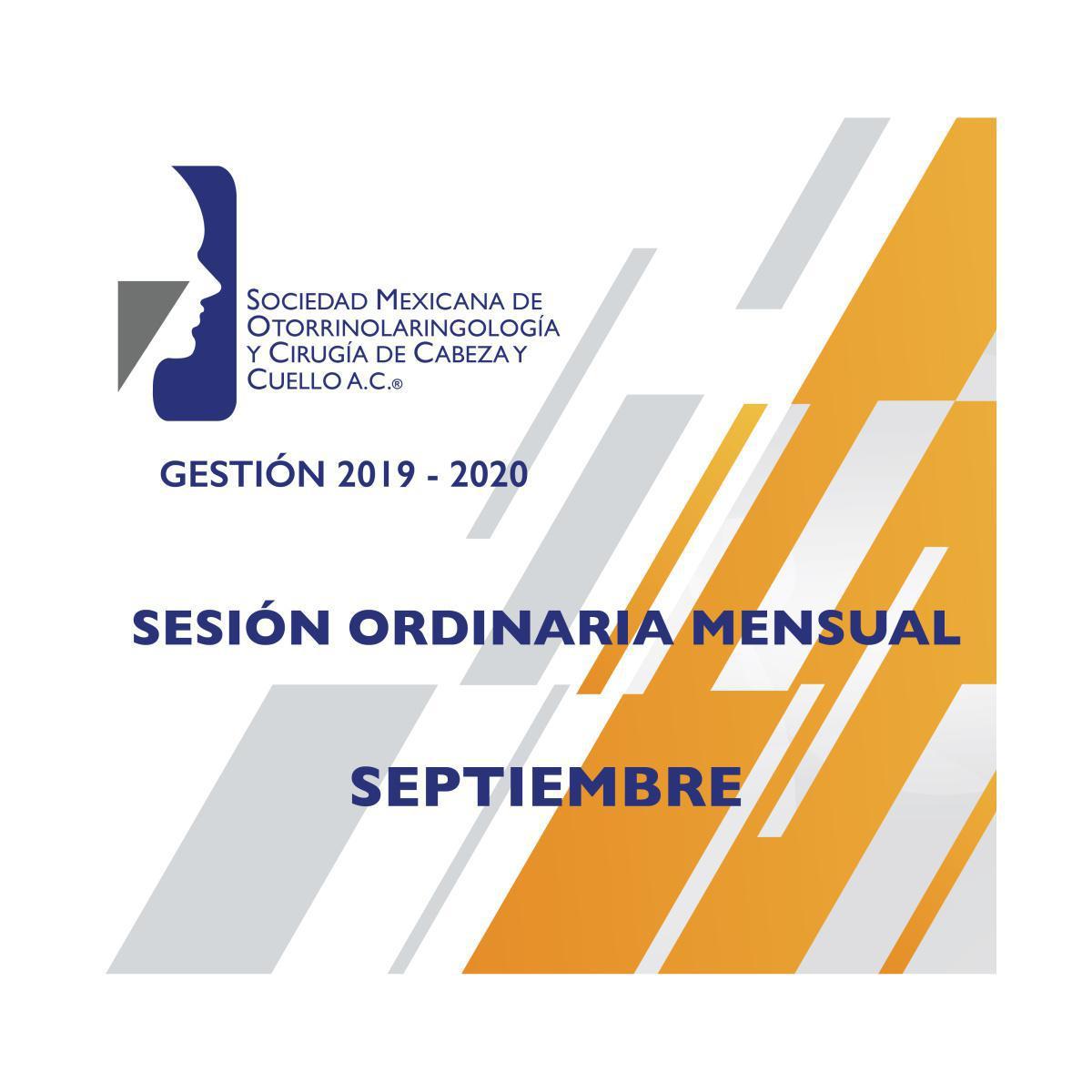 Sesión Ordinaria Mensual Septiembre