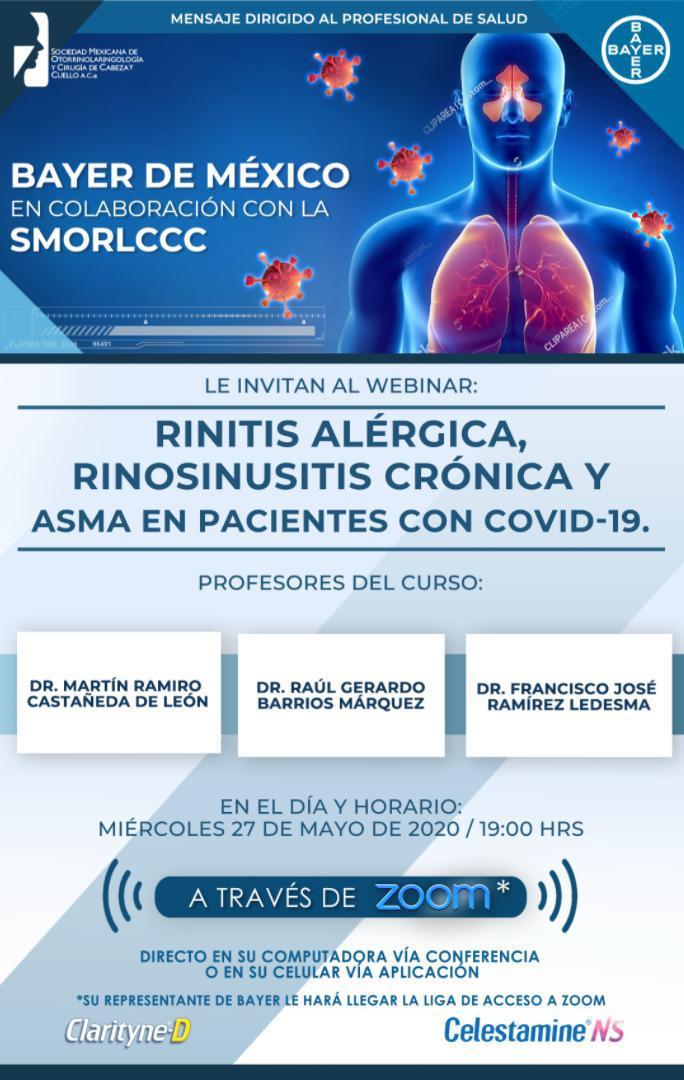 Rinitis alérgica, rinosinusitis crónica y asma en pacientes con COVID-19