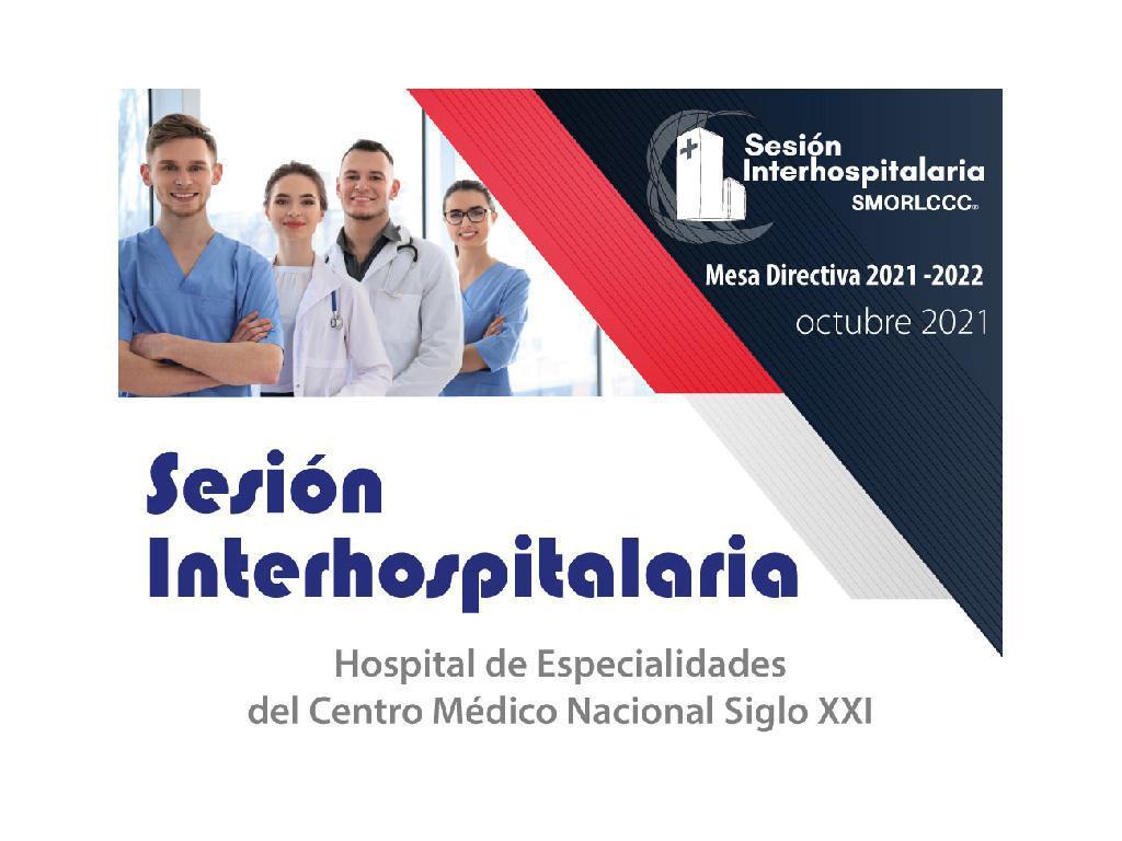 Sesión Interhospitalaria Octubre