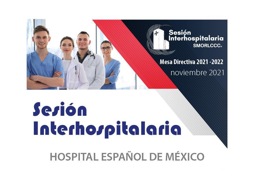 Sesión Interhospitalaria Noviembre