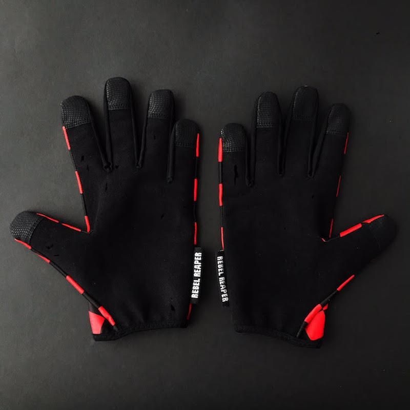 REBEL REAPER CLOTHING CO. - Checkered Moto Gloves
