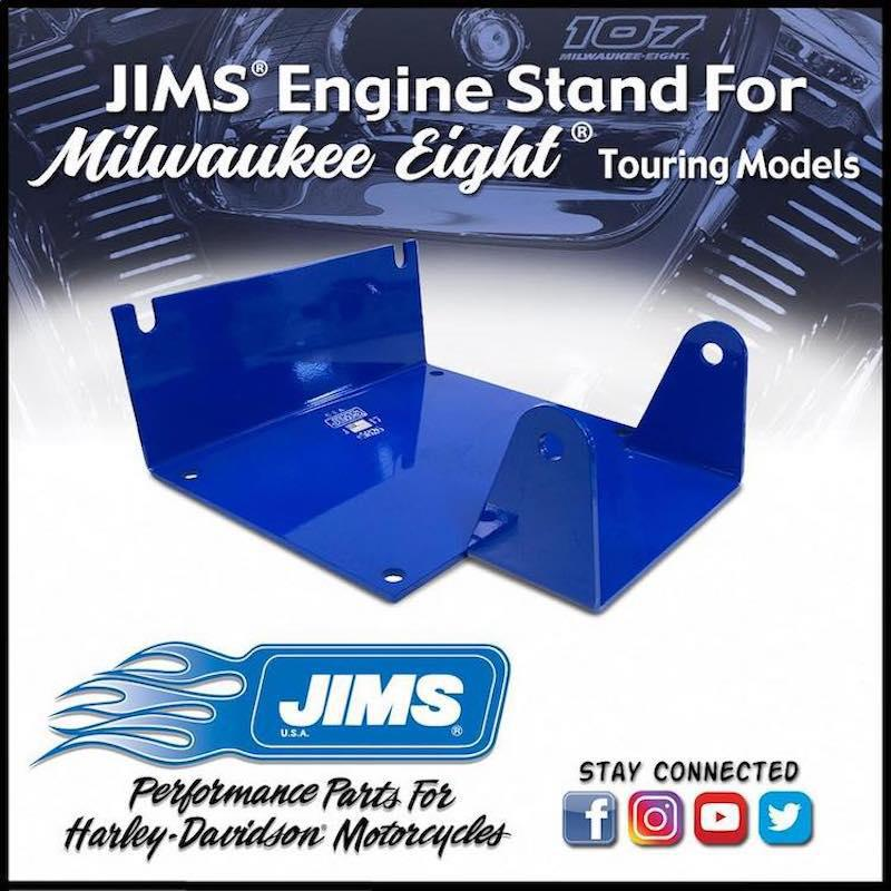 JIMS USA - New Engine Stand for Harley-Davidson Milwaukee Eight Touring Models