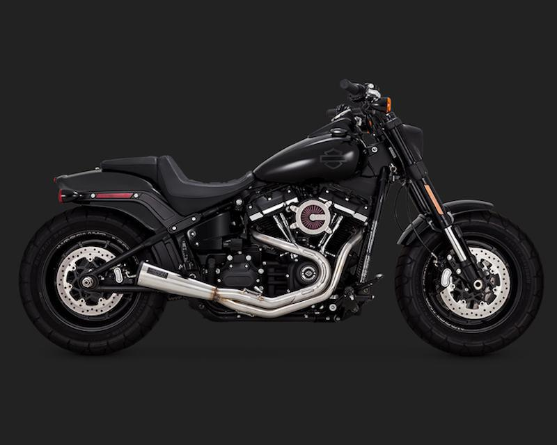 VANCE & HINES - M8 Softail Stainless 2-into-1 Upsweep Exhaust