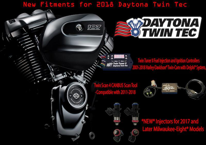 DAYTONA TWIN TEC - Now Compatible with Harley-Davidson Milwaukee-Eight