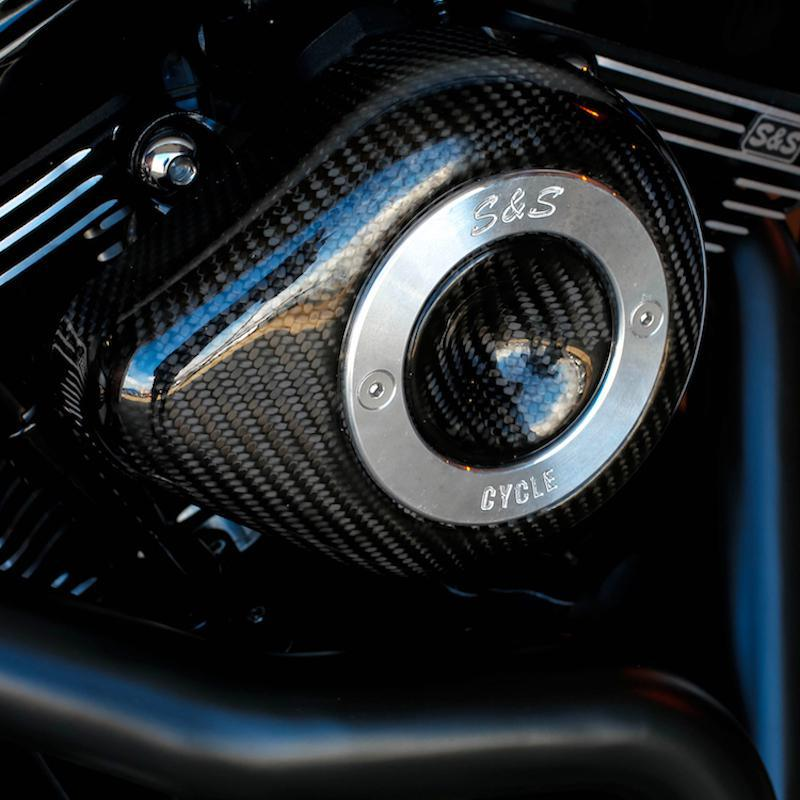 S&S CYCLE - Carbon Fiber Teardrop Air Cleaner