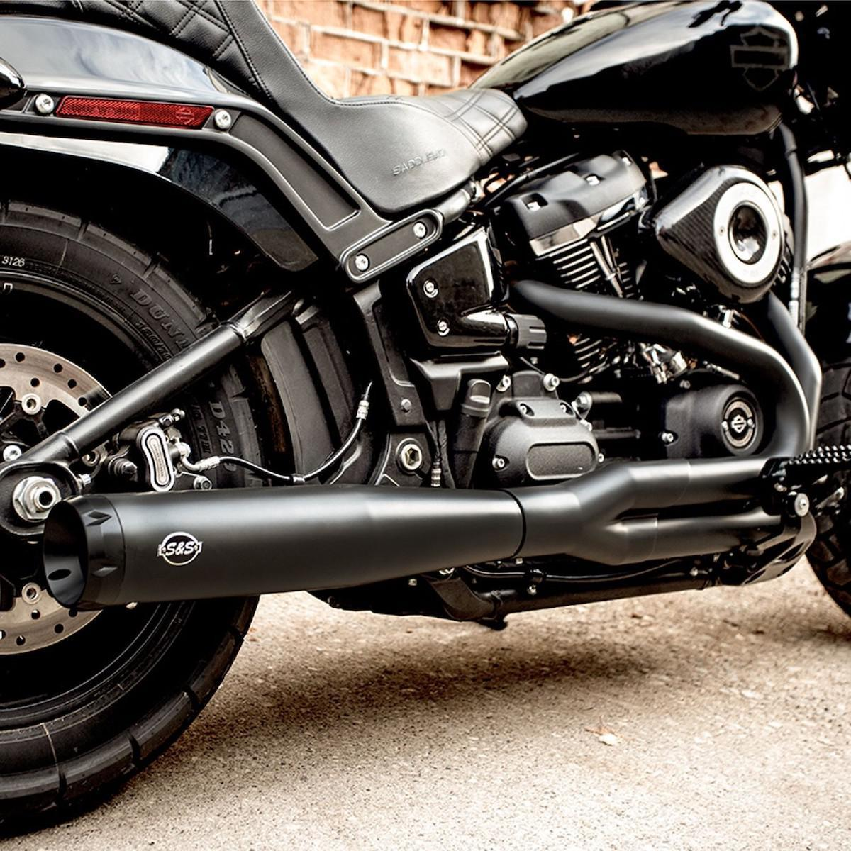 S&S CYCLE - SuperStreet Two into One Exhaust System for HD Softail Models