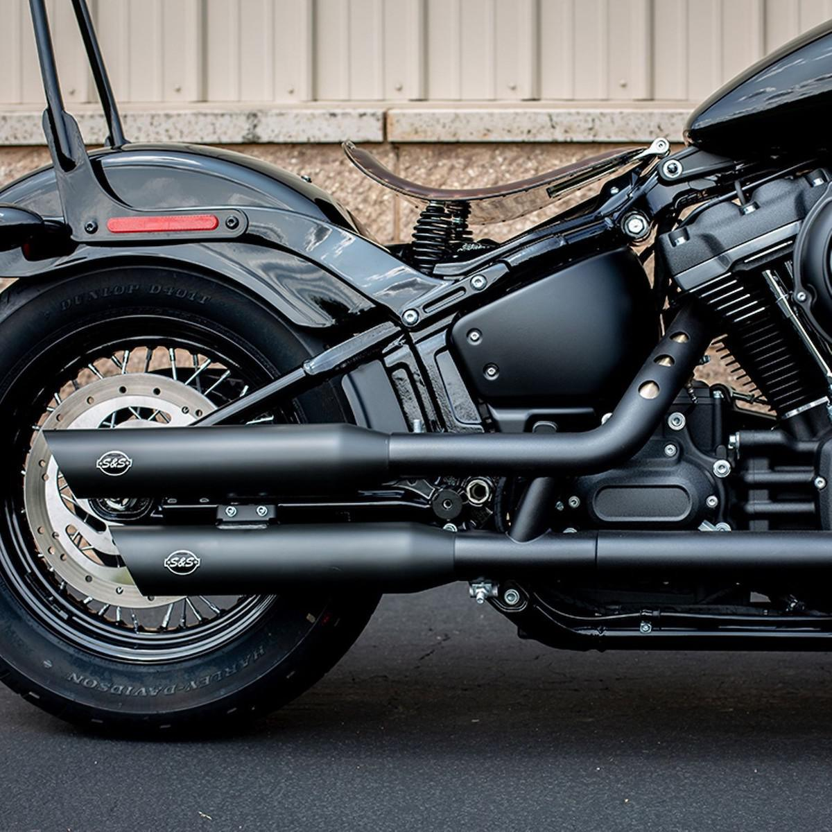 S&S CYCLE - Grand National and Slash Cut Slip Ons for M8 HD Softail Models