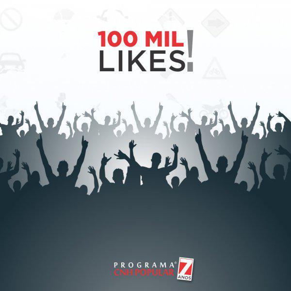 100 mil seguidores! Vocês são incríveis!