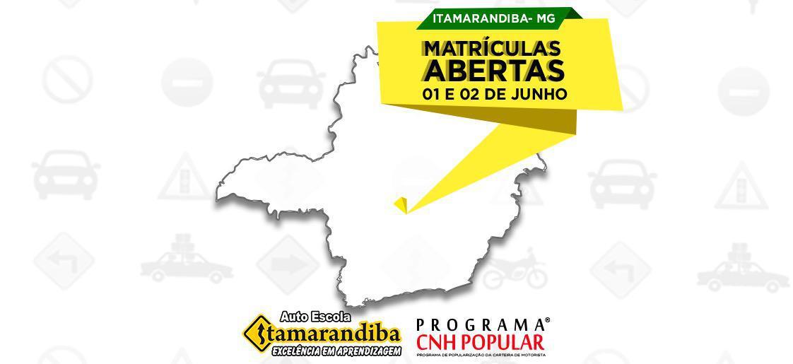 Itamarandiba (MG), é a sua vez de conquistar a CNH POP!