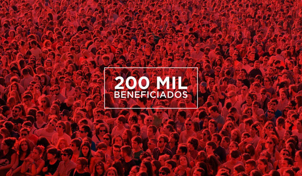 200 MIL BENEFICIADOS!