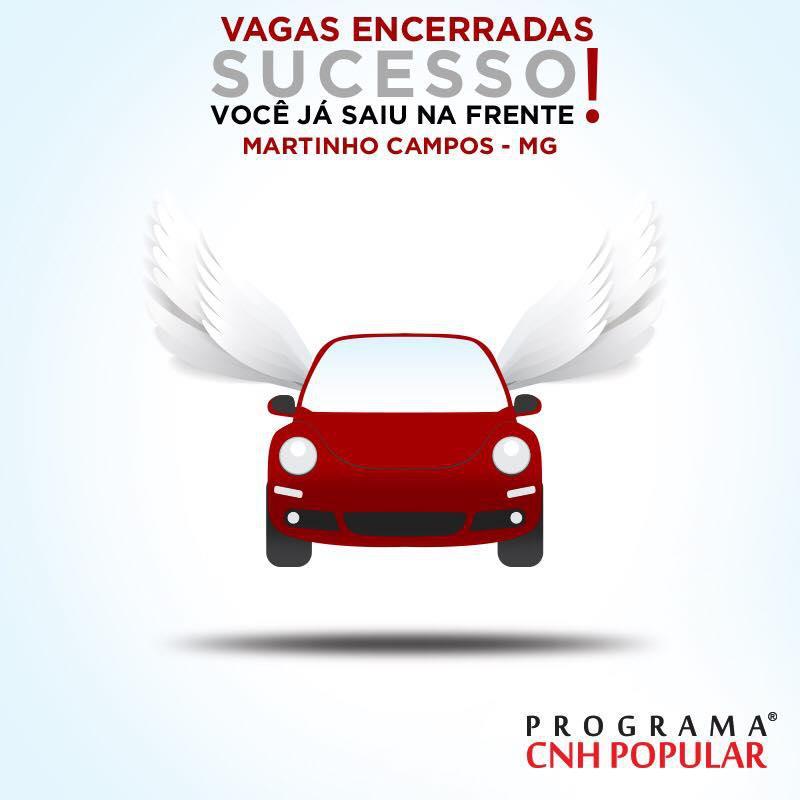 MATRÍCULAS ENCERRADAS MARTINHO CAMPOS!