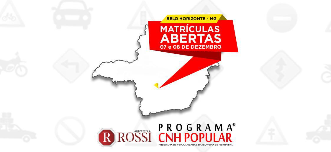 MATRÍCULAS ABERTAS   BELO HORIZONTE - MG