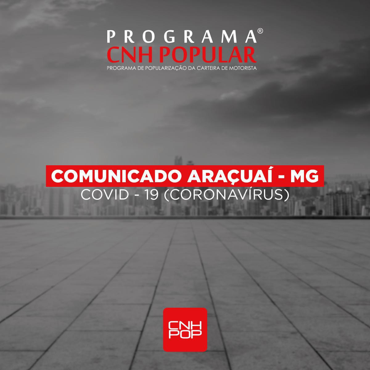 ATENÇÃO ARAÇUAÍ - COMUNICADO!