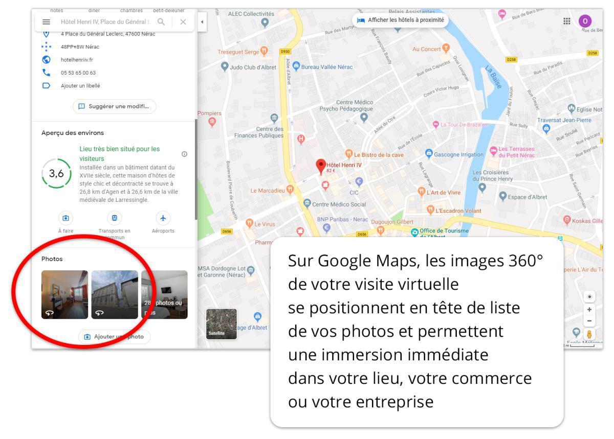 Visite virtuelle Street View pour le référencement local