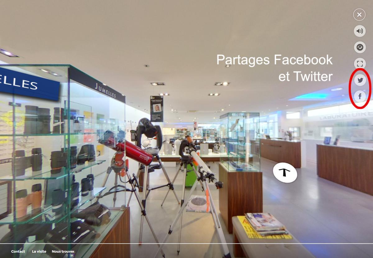 Partager votre visite virtuelle 360° Street View