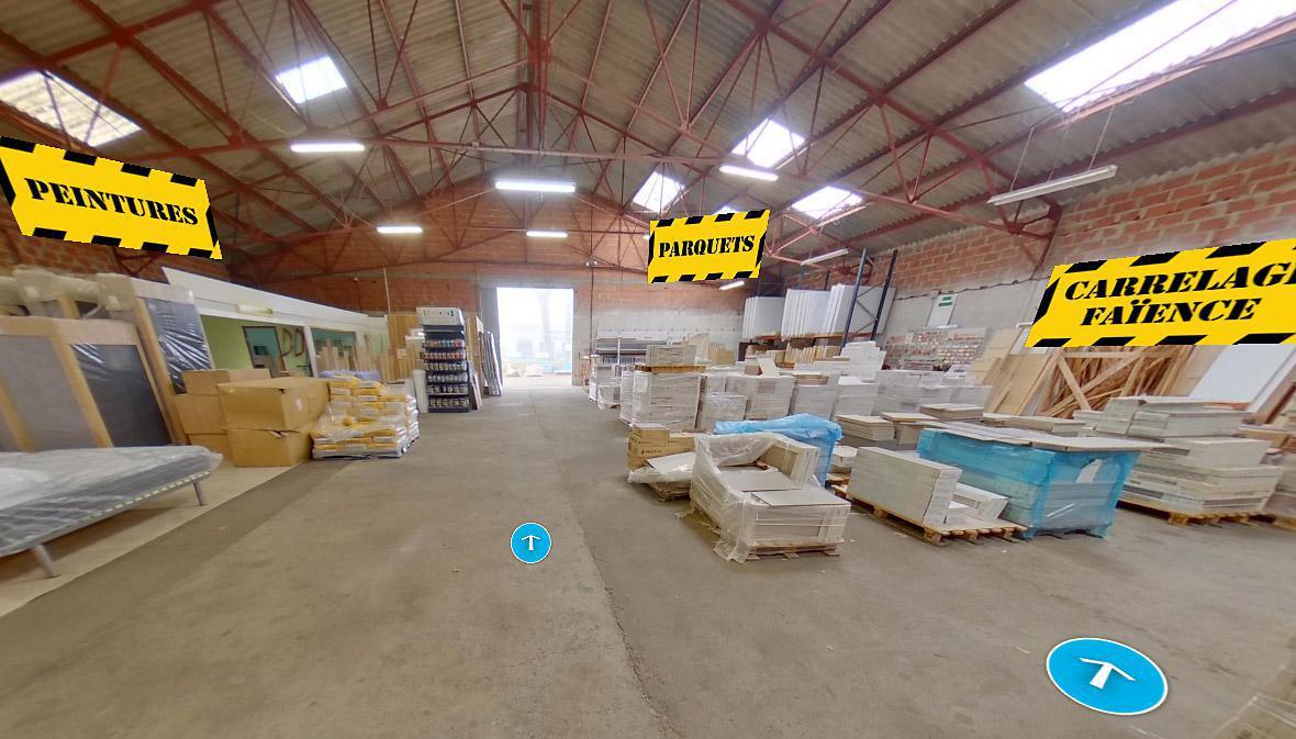 Visite virtuelle 360° à Nérac (47600) du magasin de matériaux Dépôt Discount