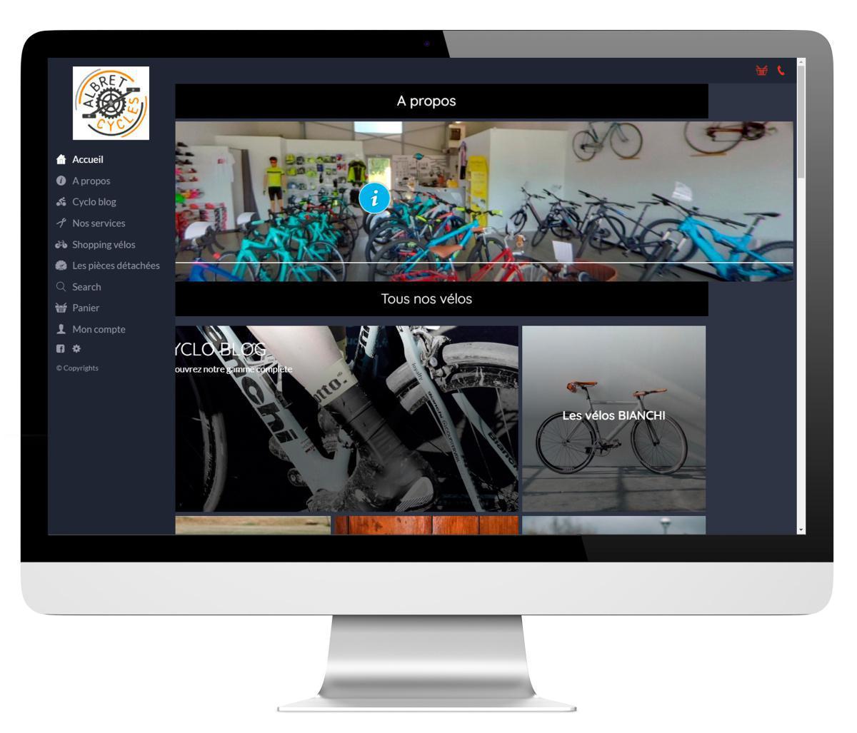 Application mobile et drive pour les magasins de cycles