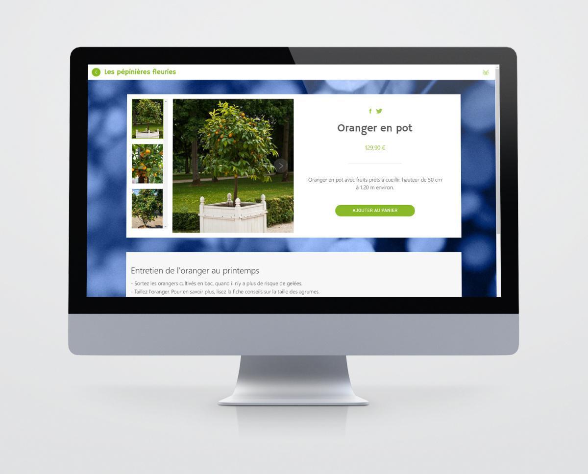 Applications de e-Commerce pour les pépinières