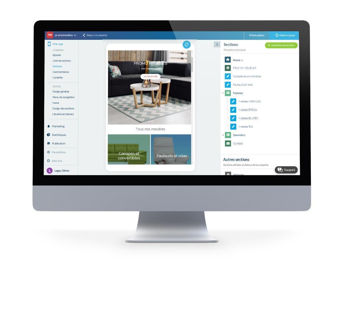 Fonctionnalités des applications de e-commerce