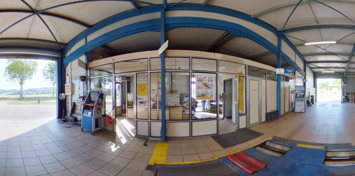 Visite virtuelle 360° à Nérac (47600) du centre de contrôle technique Auto Sécurité