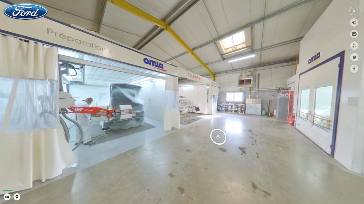 Visite virtuelle 360° à Nérac (47600) du garage Bellandi Ford