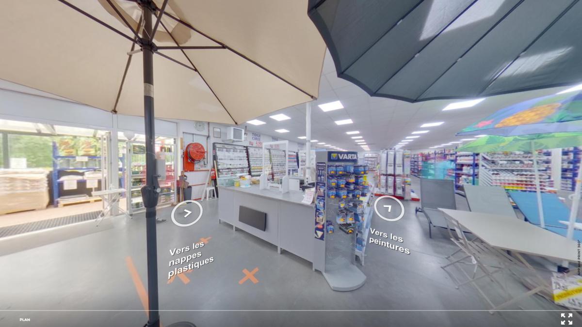 Visite virtuelle 360° à Auch (32000) du magasin Le Grand Bazar