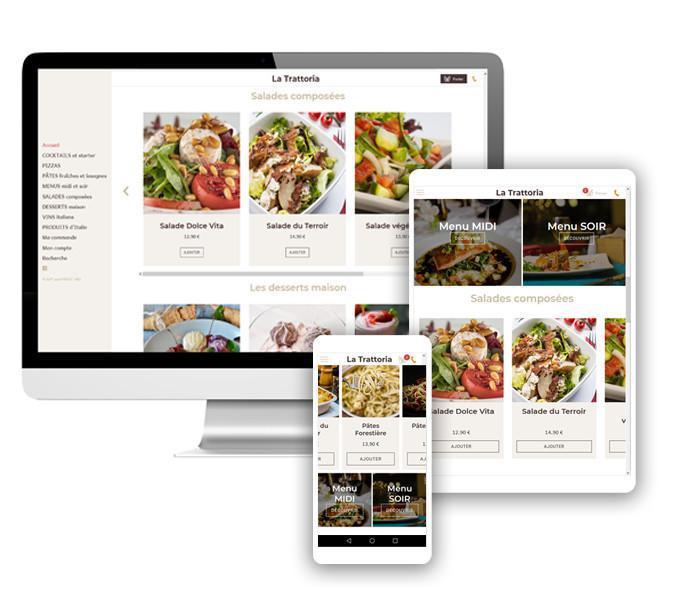 Commandes en ligne et ventes à emporter...