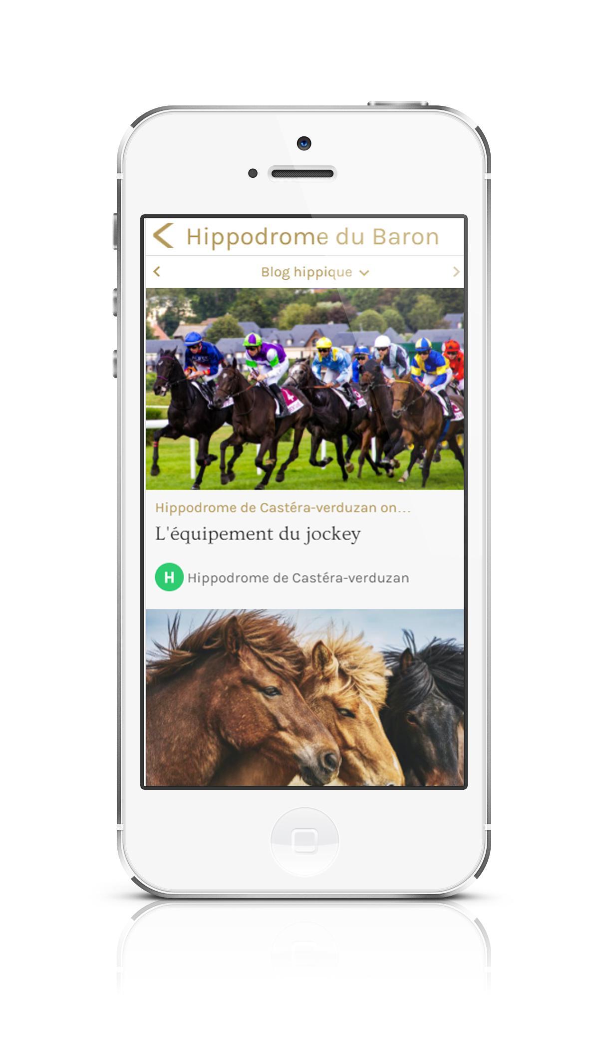Application mobile pour lieux de loisirs