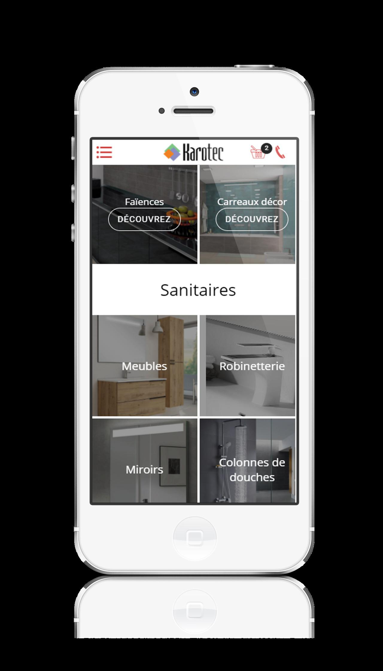 Application mobile pour un magasin de carrelages et sanitaires