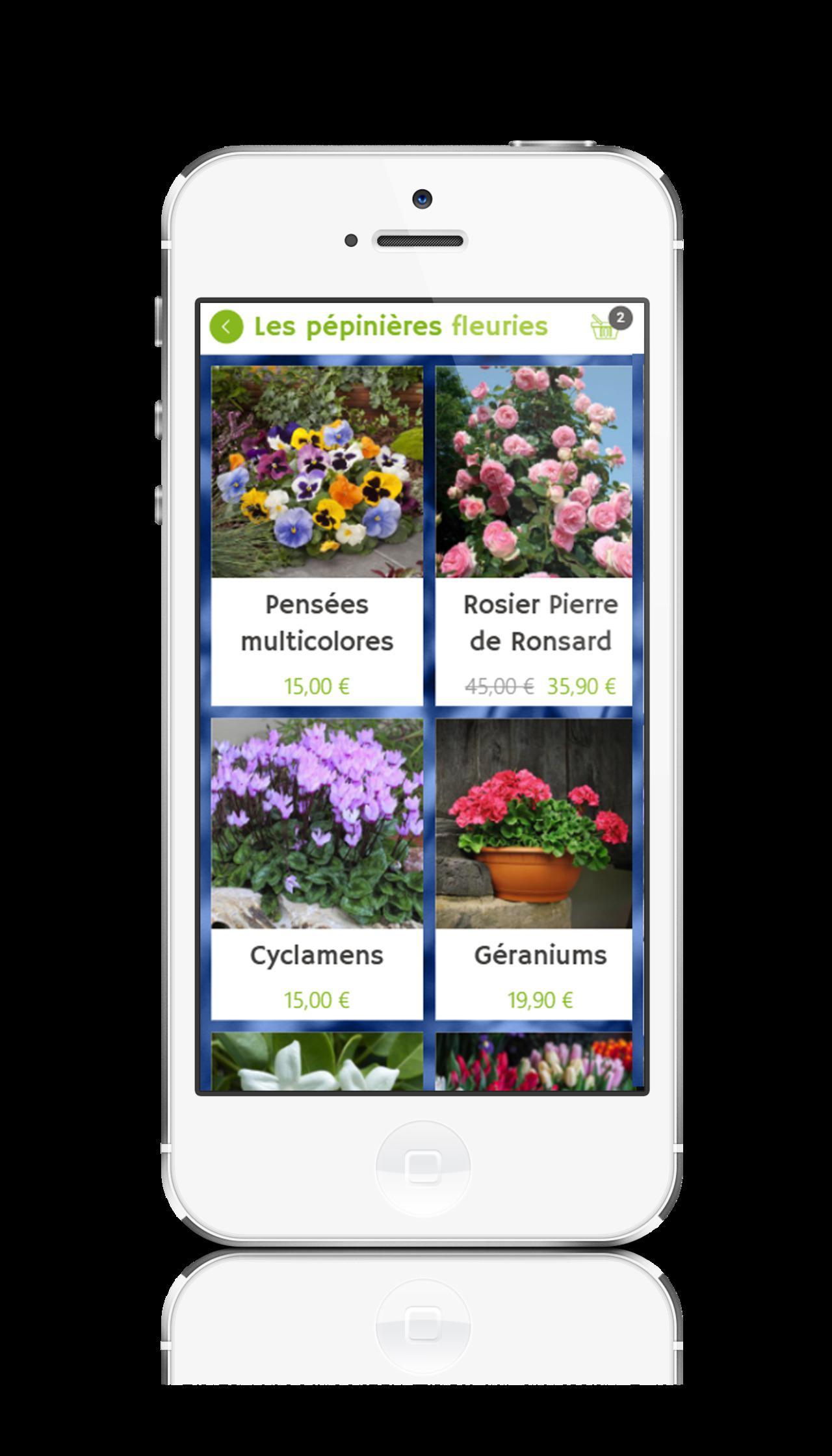Application mobile pour une pépinière