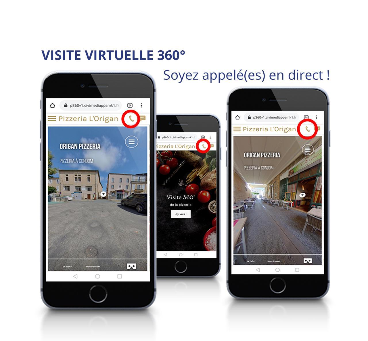 Visite virtuelle 360°, soyez appelé(e) en direct...